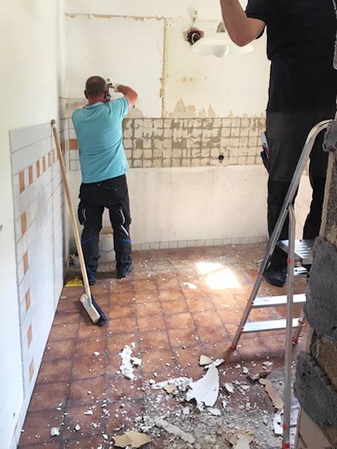 Entkernung Küche